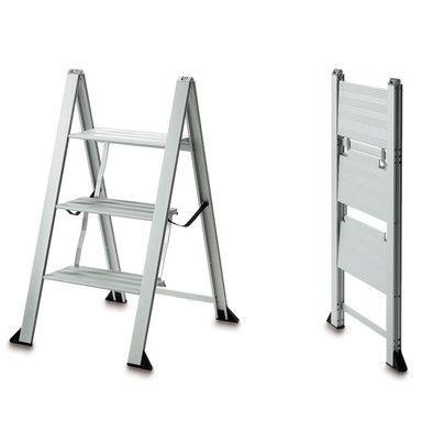 Haushaltsleiter Aluminium 3 Stufen | Magazin