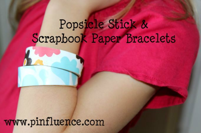 popsicle stick & scrapbook paper bracelet tutorial!  easy & fun craft to do with kids!: Paper Bracelets, Crafts Ideas, Popsicles Bracelets, Popsicle Stick Bracelets, Scrapbook Paper, Popsicles Sticks Bracelets, Craft Ideas, Popsicle Sticks, Crafts Sticks