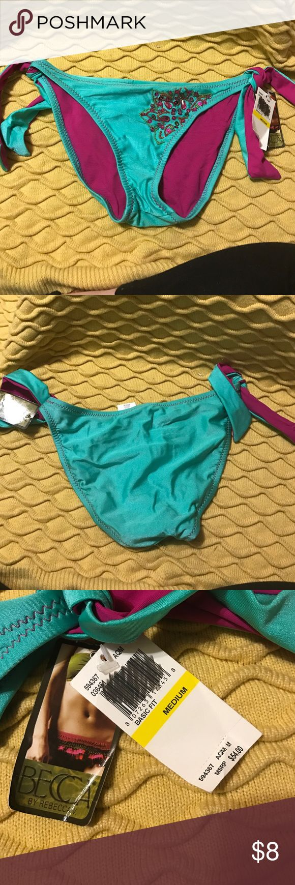 Becca bathing suit bottoms. Great for your winter cruise! NWT. Perfect to add to a plain bathing suit top! Mix and match is in style! BECCA Swim Bikinis