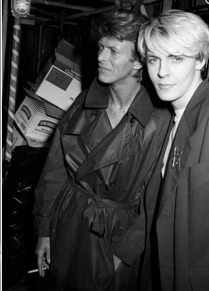 David Bowie with Nick Rhodes of Duran Duran