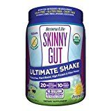 Renew Life  Skinny Gut Ultimate Shake  Ultimate Flora probiotic supplement  fiber supplement  Vanilla Flavor powder  13.4 ounces