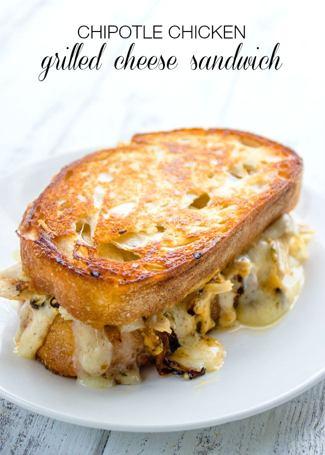 Chipotle Chicken Grilled Cheese Sandwich by Brunch Time Baker as part of the Friday Five - Grilled Cheese addition - Feed Your Soul Too