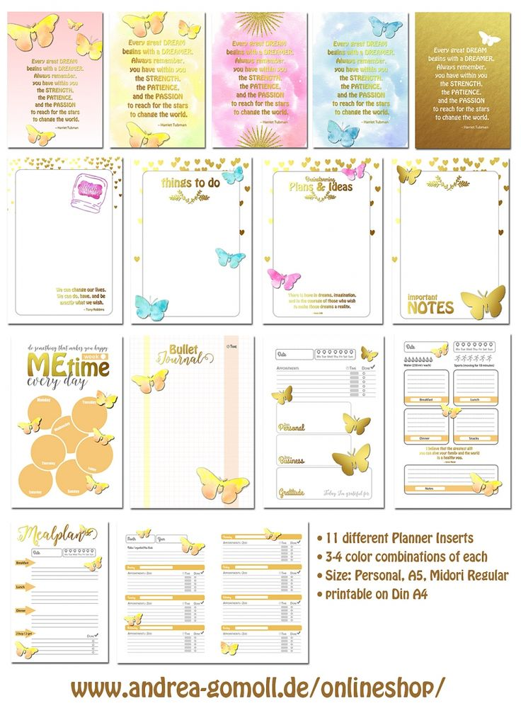 It's just a photo of Nifty Free Printable Planner Inserts