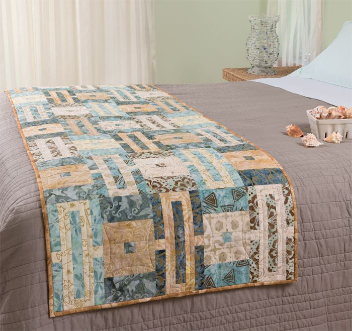 DESIGNER BLOG HOP! No time for a bed quilt? Try a bed runner! Bed runners are quick to sew and quick to change for a whole new look.