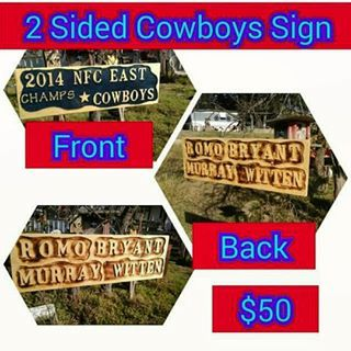 This is the 2014 East Division Champs that is 2-sided. For Sale. Perfect gift for the Cowboy Fan. #dallascowboys #cowboys #football #nfl