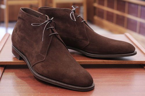 MEN DARK BROWN SUEDE CHUKKA BOOTS, MEN BROWN SUEDE BOOT #Handmade #Chukka
