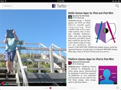 Love the way Flipboard for iPad displays our articles and reviews in an easy to use 'magazine' style format.  Love it!