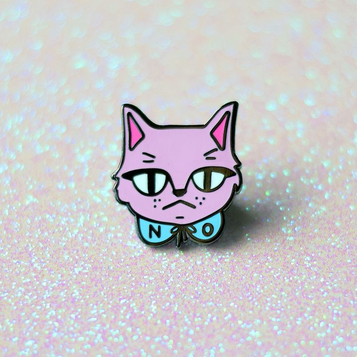 """Do you see this face? I am not amused with your sh*t right now. Flaunt your sassy side with this adorable cat pin! -1"""" Black Nickel Plated Hard Enamel Pin with Rubber Backing -Shipped on a card in bub"""