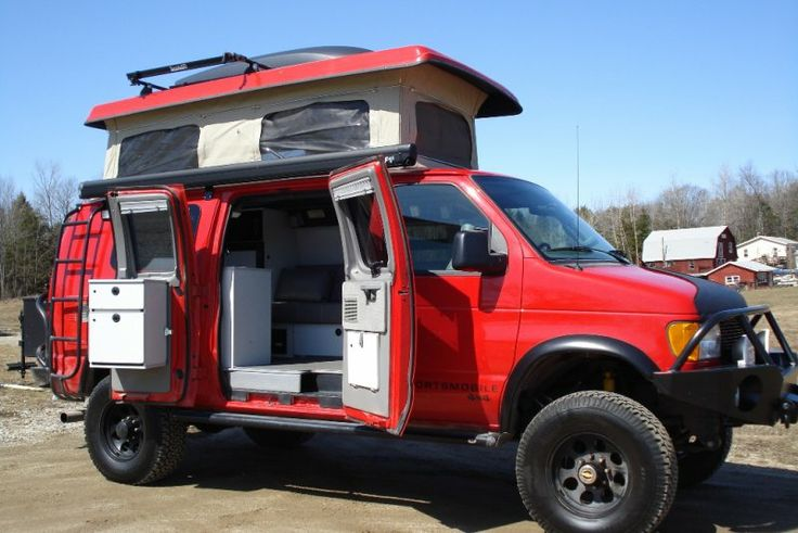 Sportsmobile Ruggedized 4x4 Diesel Camper - sure could use one of these this summer for camping!!