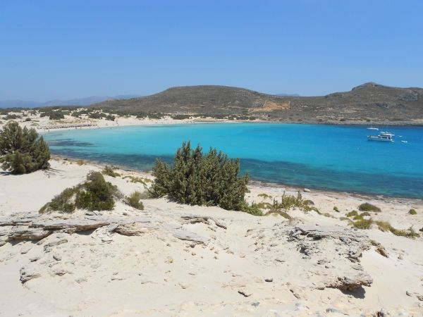 White sandy beach of Simos