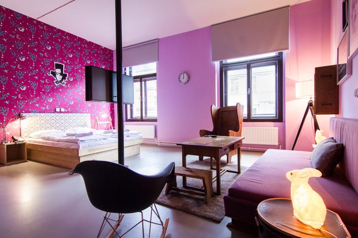 THE MAD HATTER'S ROOM - Alice in Wonderland  www.fusionhotels.com Designed and furnished by @Tinquer Interiors   #design #vintage #fusionhotel #wonderland