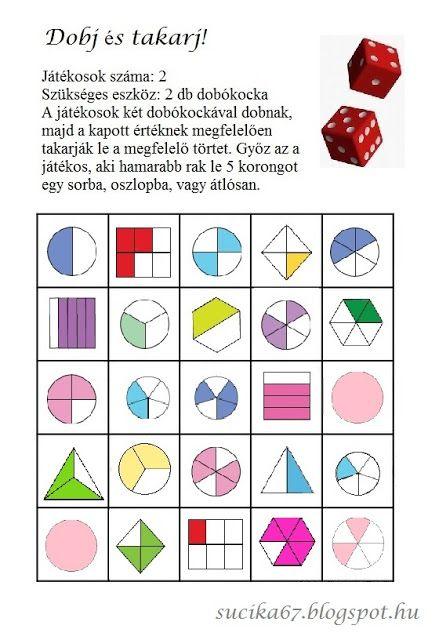 Játékos tanulás és kreativitás: Dobj, pörgess és színezz, takarj, ... törtek