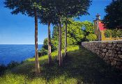 """""""Eagle Bluff Lighthouse in Summer"""""""