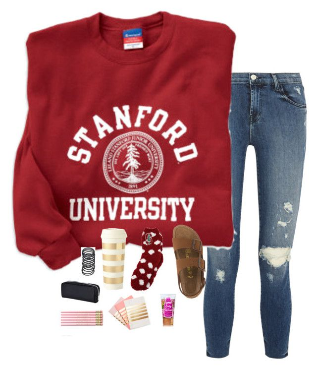 """""""su❤️"""" by torideckerr ❤ liked on Polyvore featuring J Brand, Birkenstock, Kate Spade and StudioSarah"""
