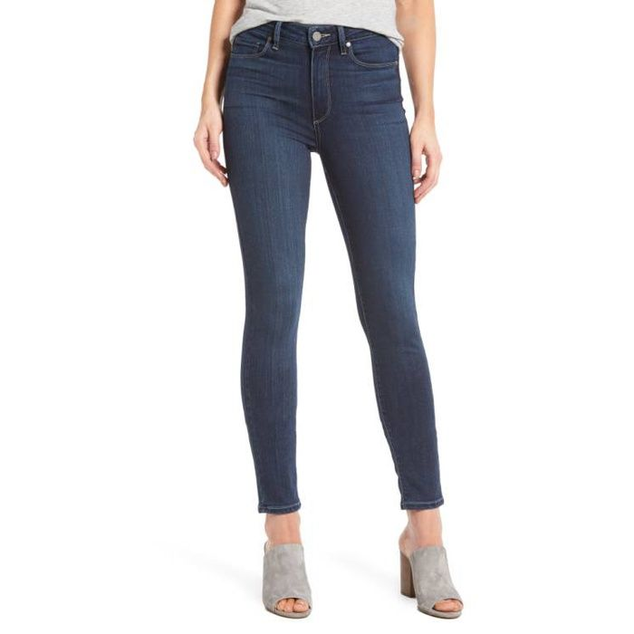 Rank & Style - Paige Denim Hoxton High Waist Ankle Skinny Jeans #rankandstyle