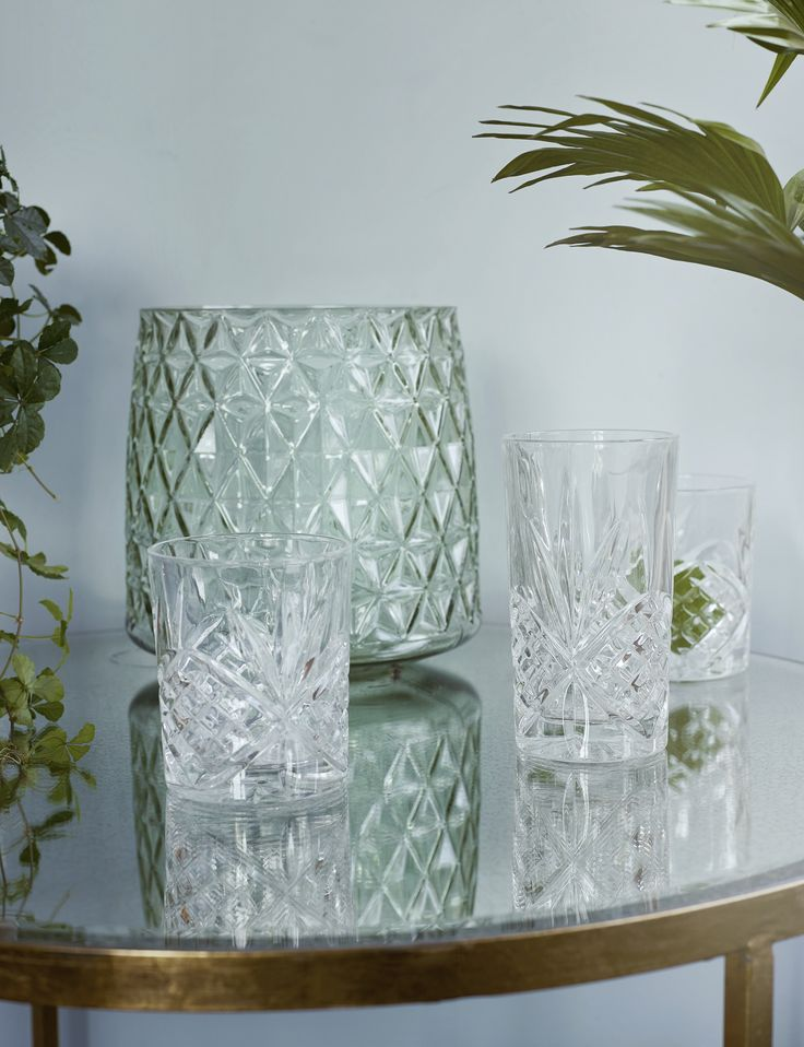 Use your glasses as small vases. Find them at Molly Marais.