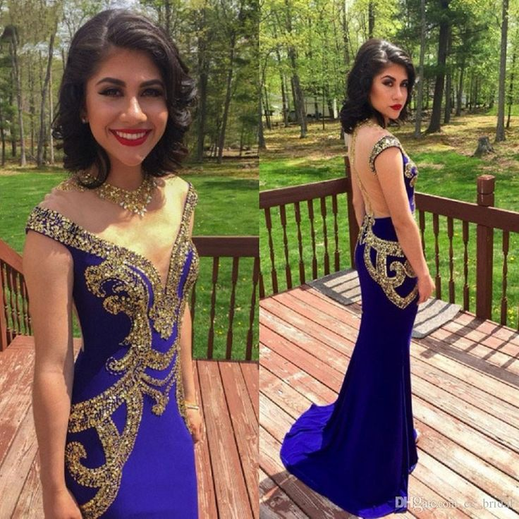 2016 New Sexy O Neck Royal Blue Mermaid Evening Dresses With Gold Sequined Red Carpet Dresses Beaded Crystal Long Prom Dresses Evening Wear Long Black Evening Dress Maternity Evening Dresses Uk From Cc_bridal, $108.35| Dhgate.Com