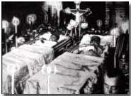 The body of Archduke Franz Ferdinand lying in state