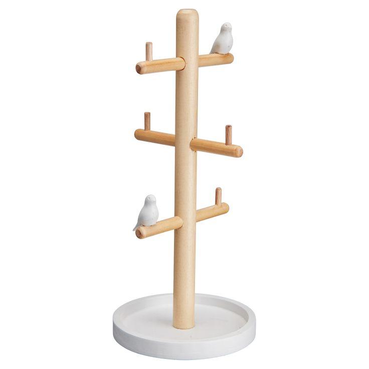 Modern vogelhuis. Kleur: wit. Hoogte: 30 cm. #kwantumlente #tuin #vogelhuis