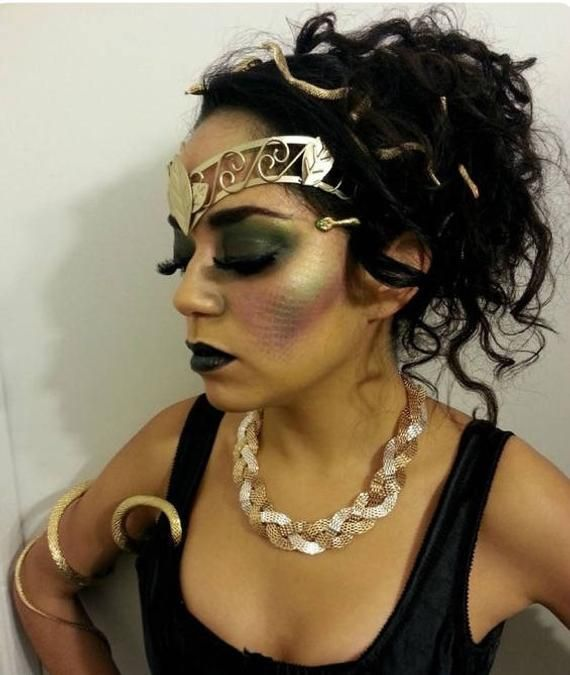 Gold Medusa Snake Hair Clips Sexy Unique Medusa Headpiece -3313
