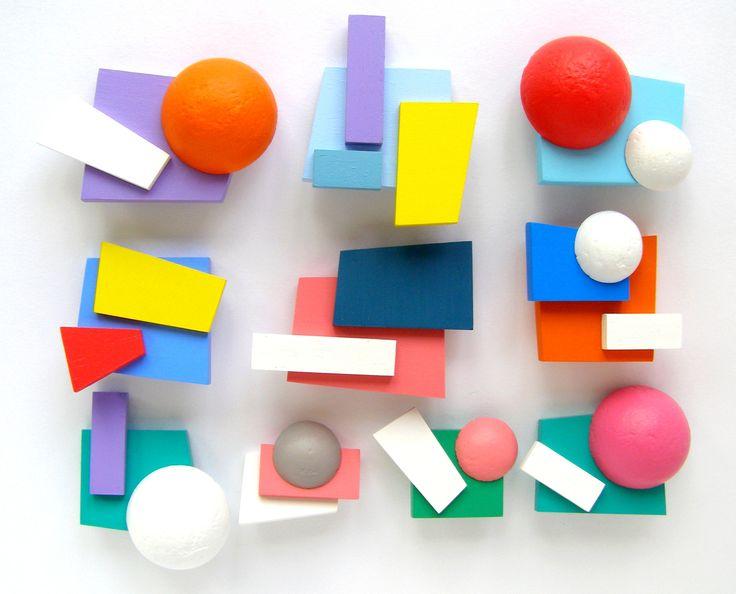Cubist brooches by Anu Samarüütel http://fashionsaboteur.blogspot.co.uk/ www.anuworld.co.uk