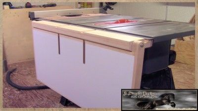 Making A Folding Out Feed Table For Your Table Saw (PART 1)