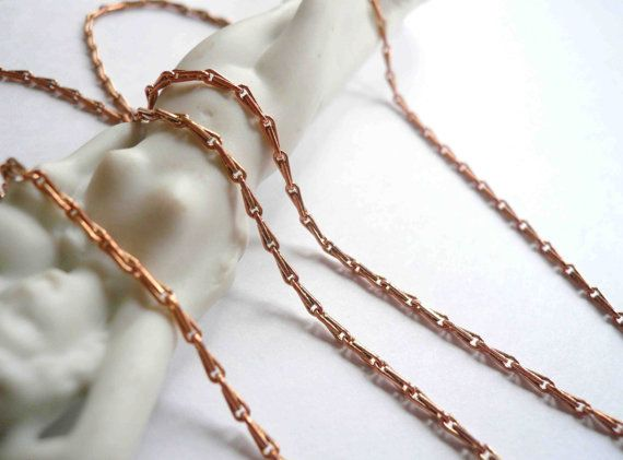 Long rose gold necklace chain. Plain brass barley by minusOne, $18.00
