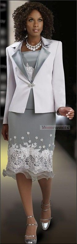 """Designer DVC Exclusive Description This 3 piece set from DVC is elegant enough for almost any special occasion, day or night! The 25"""" microfiber jacket has a novelty collar and lapels faced in shimmering satin and closes at the waist with a rhinestone buckle."""