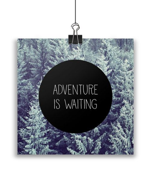 Adventure is waiting card by Away from the city