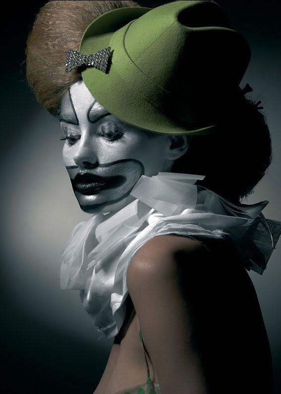 silver clown face