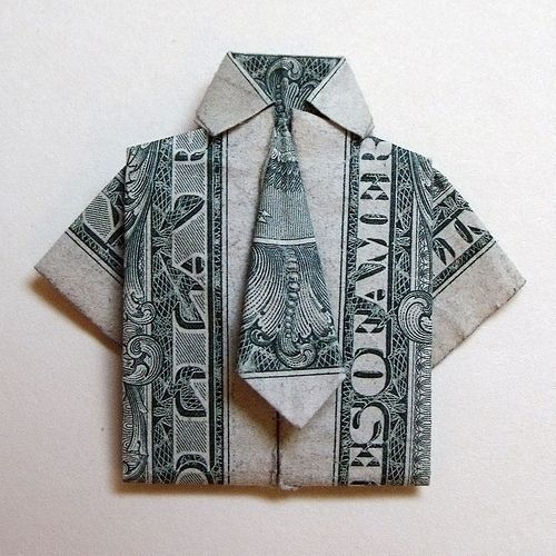 Money Origami http://www.homemade-gifts-made-easy.com/origami-shirt-and-tie.html
