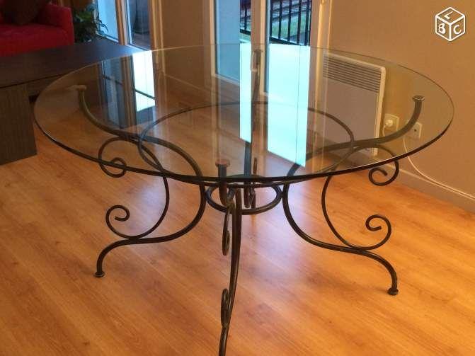 17 id es propos de table fer forg sur pinterest - Table verre et fer forge ...