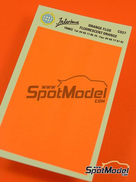 naranja fluorescente ral2007 calcas de agua fabricado por interdecal ref interd co27
