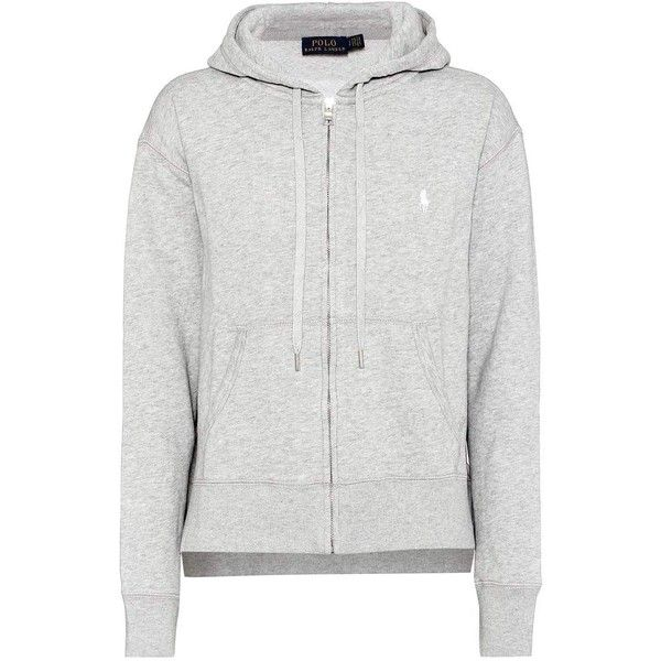 Polo Ralph Lauren Cotton-Blend Hoodie ($150) ❤ liked on Polyvore featuring tops, hoodies, grey, grey hooded sweatshirt, grey hoodies, gray hooded sweatshirt, cotton-blend hoodie and gray hoodies