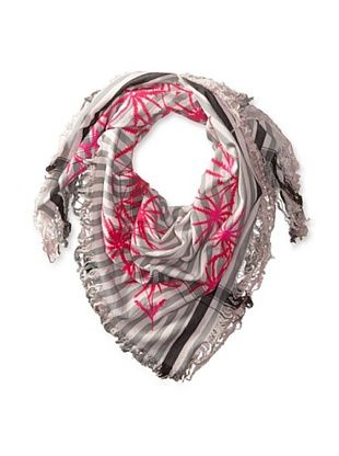 67% OFF LEIGH & LUCA Women's Wild Birds Square Scarf, Shadow/Pink