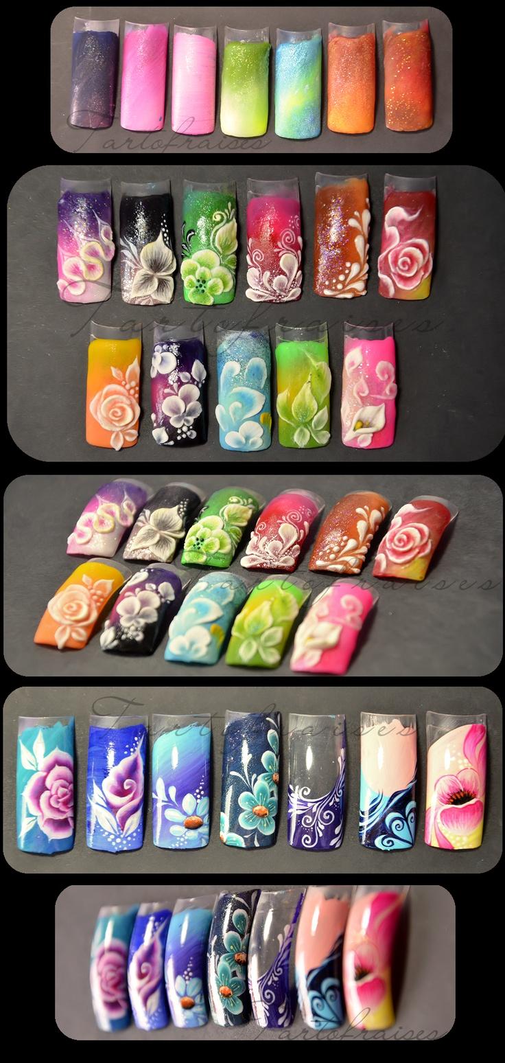* Tartofraises : Nail Art sur ongles naturels * samples