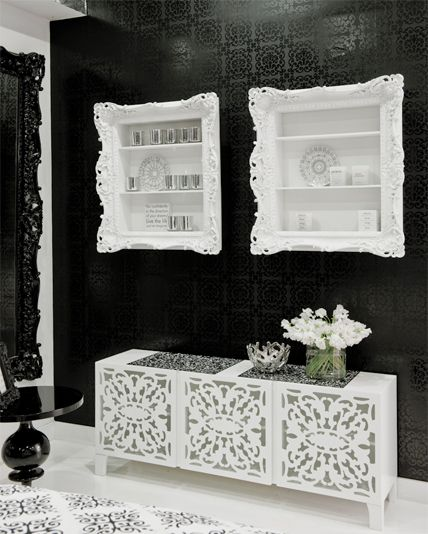 Brocade Home Laser Cut Media Storage Unit