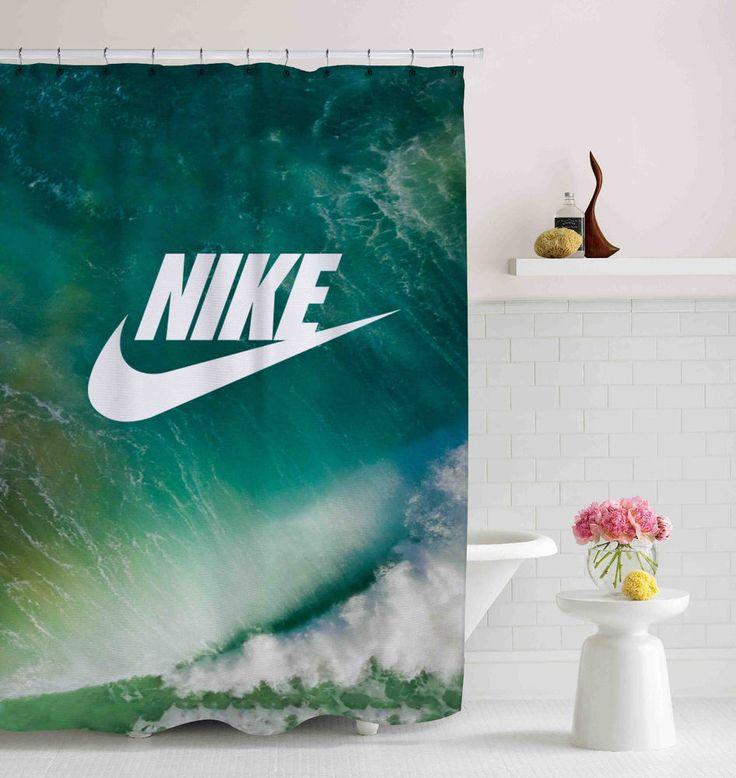 "Nike Blue Ocean Logo Custom Shower Curtain 60""x72"" High Quality #Unbranded #Modern #fashion #Style #custom #print #pattern #modern #showercurtain #bathroom #polyester #cheap #new #hot #rare #best #bestdesign #luxury #elegant #awesome #bath #newtrending #trending #bestselling #sell #gift #accessories #fashion #style #women #men #kid #girl #birthgift #gift #custom #love #amazing #boy #beautiful #gallery #couple #bestquality #nike #ocean #sea #logo #justdoit"