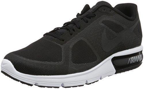 Nike Men Air Max Sequent Running Shoes Black/Wolf Grey/White/Metallic Hematite 12