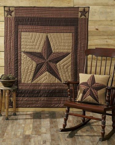 Landon Quilted Throw – Primitive Star Quilt Shop