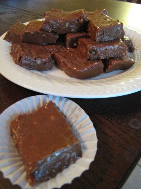 Sweet, rich, and creamy fudge. But don't tell anyone the secret ingredient until AFTER they have tried it ... and even then, you don't have to!