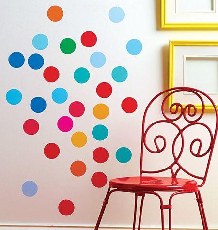 Wallies peel stick big wall stickers confetti dots décor vinyl good for