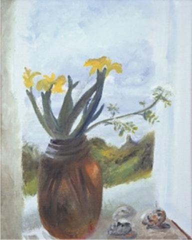 Yellow Iris.1980 Winifred Nicholson