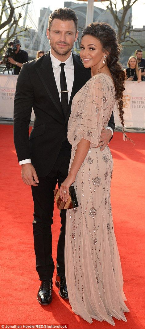 Loved-up: Mark Wright was unsurprisingly smitten with his enchanting wife Michelle Keegan ...