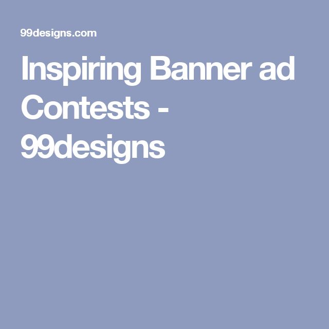 Inspiring Banner ad Contests - 99designs