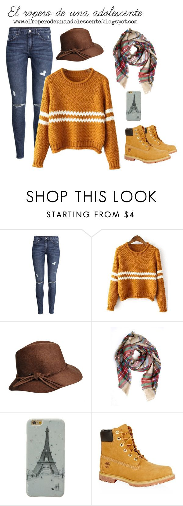 """""""Mellow Yellow"""" by desi2003 on Polyvore featuring moda, H&M y Timberland"""