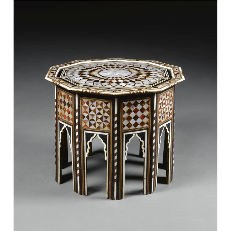 An Ottoman Tortoiseshell and Mother-of-Pearl Table, Turkey, <P>18th Century</P> | Lot | Sotheby's