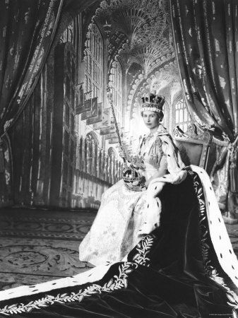Queen Elizabeth II in coronation dress and robes.  This year marks the her Diamond Jubilee.: Queen Elizabeth, Photographers Queen, The Queen, Queen S Diamonds, People, Buckingham Palace