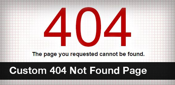 Custom 404 Not Found Page