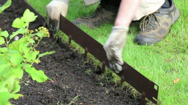 idée de bordure de jardin en métal